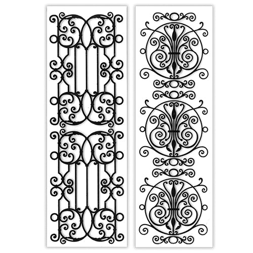Embossing Folder:  WROUGHT IRON Duo