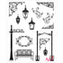 Stamp Set - Large:  WROUGHT IRON