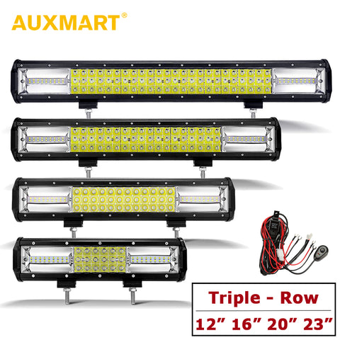 "AUXMART 12""/16""/20""/23"" LED Light Bars"
