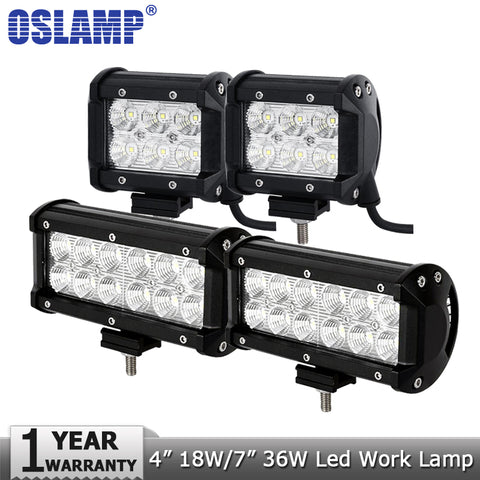 "OSLQMP 4""/7"" 36W LED Work Light 12V/24V"