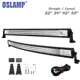 "OSLAMP Light Bar 22""/34""/42""/50"" 4x4 LED Light Bar"