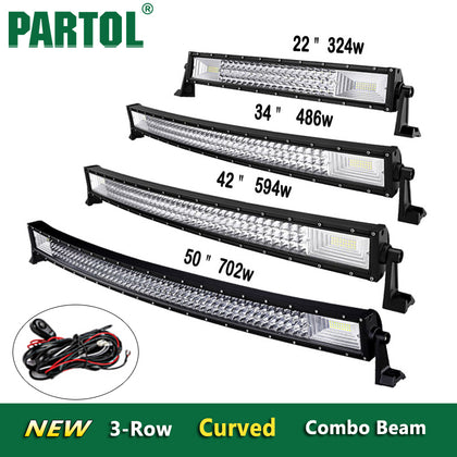"PARTOL 22""/32""/34""/42""/50""/52"" LED Light Bars"