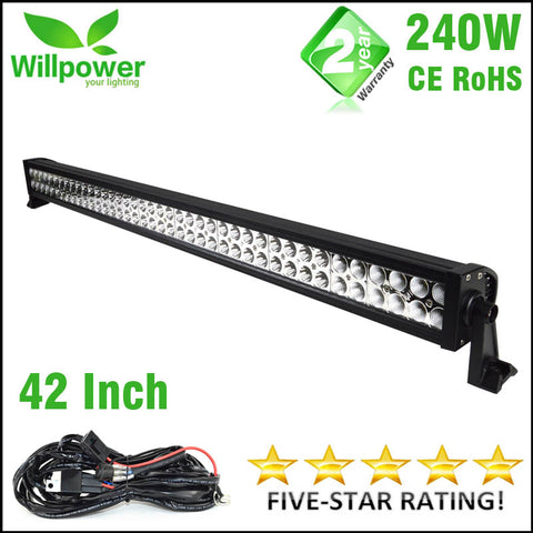 WILLPOWER 42inch 240W 12/24V LED 4x4 Work Light