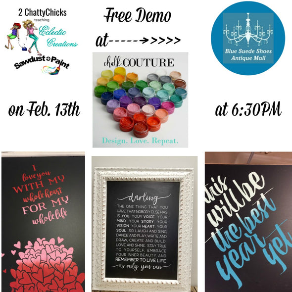 February 6th 2018-Free Demo at Blue Suede Shoes Antique Mall