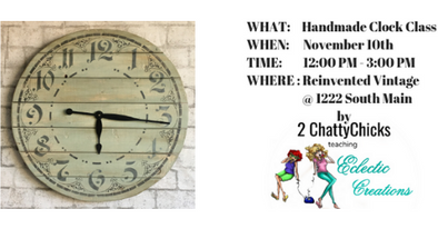 2018-November 10th $95.00 CLOCK CLASS