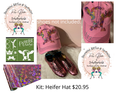 Kit-Distressed Heifer Hat  Shoes not included