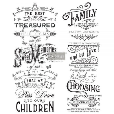 REDESIGN DECOR TRANSFERS - FAMILY HEIRLOOMS