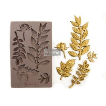 REDESIGN DECOR MOULDS - LEAFY BLOSSOMS