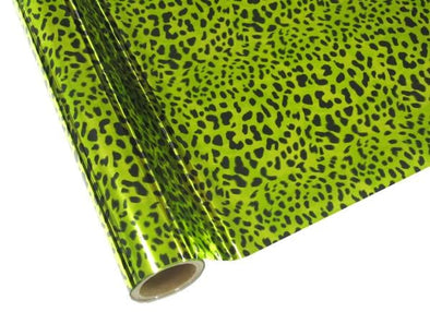 FOIL LEOPARD LIME GREEN