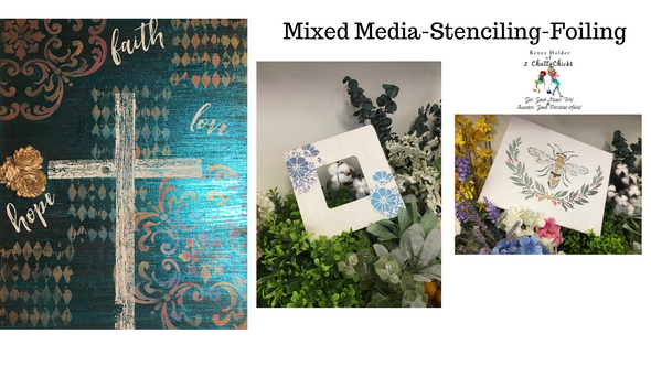 2019 October 19th Mixed Media Stenciling