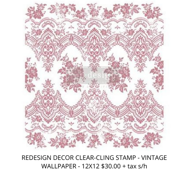 REDESIGN PRIMA CLEAR ALIGNED DÉCOR STAMPS - VINTAGE WALLPAPER