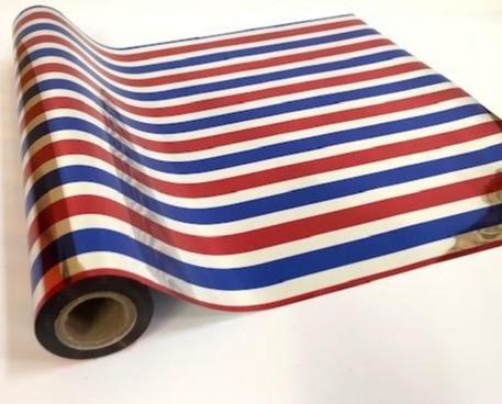 FOIL STRIPES RED/BLUE/SILVER