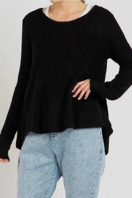 LEXI KNIT JUMPER - BLACK