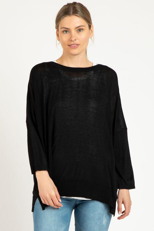 MACY KNIT JUMPER - BLACK