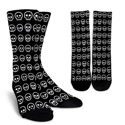 Skull Madness (White) Crew Socks