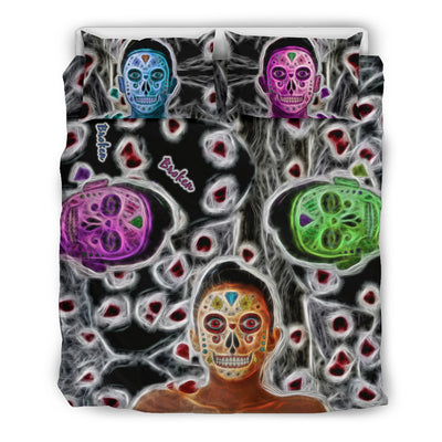 Broken Sugar Skulls Bedding Set