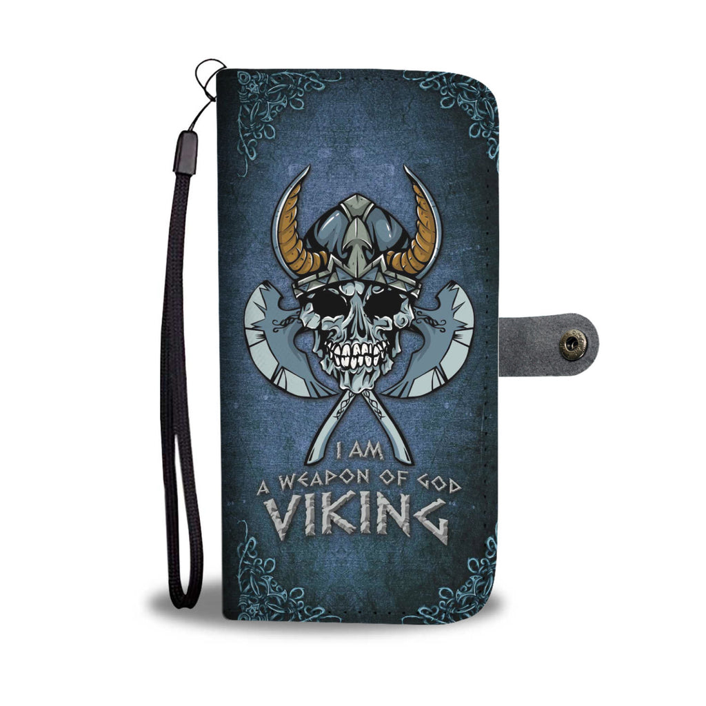 A Weapon Of God-Viking Skull Wallet Phone Case