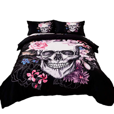 Flower Skull Bedding Set(3PC/SET)