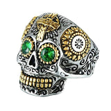 Day Of The Dead Skull Ring For Men