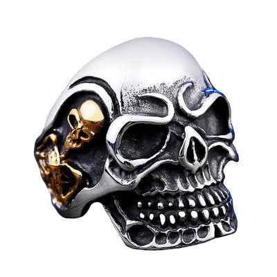 Big Triple Skull Ring For Men