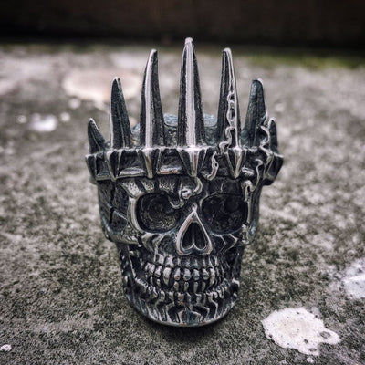 King Crown Skull Ring For Men