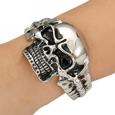 Ultimate Big Skull Bracelet For Men