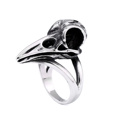Raven Skull Ring For Men Women
