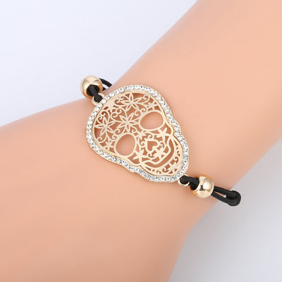 Crystal Candy Skull Bracelet For Women