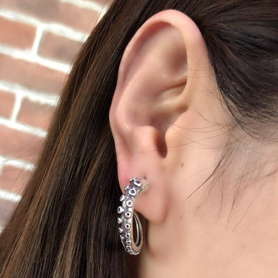 Octopus Tentacle Stud Earring For Women