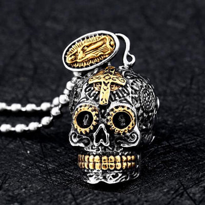 Antique Sugar Skull Necklace