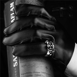 Dragon Claw Skull Ring For Men