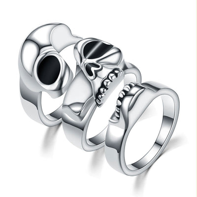 Triple Together Skull Ring For Men