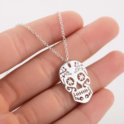 Mini Sugar Skull Necklace For Women