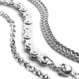 Biker's Skull Wallet Chain For Men Women