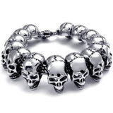 Hard Rock Skull Bracelet For Men