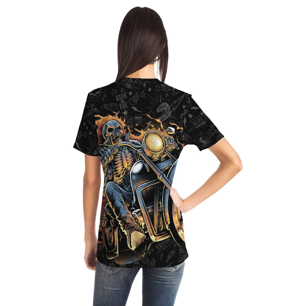 Skull Ghost Rider Double-Sided All-Over T-Shirt