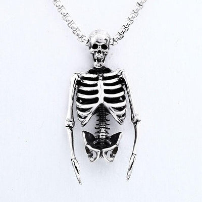 Lifelike Skeleton Necklace For Men Women Skull Lovers