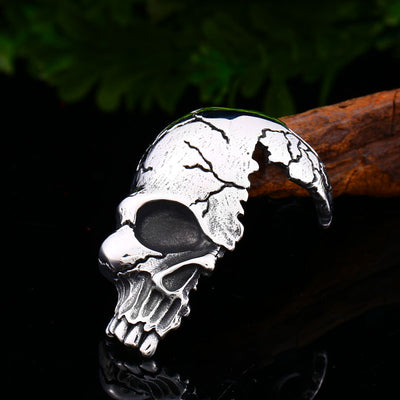 Half Skull Necklace For Men