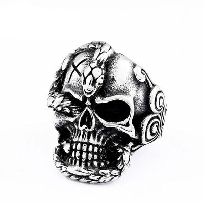 Python Devil Skull Ring For Men