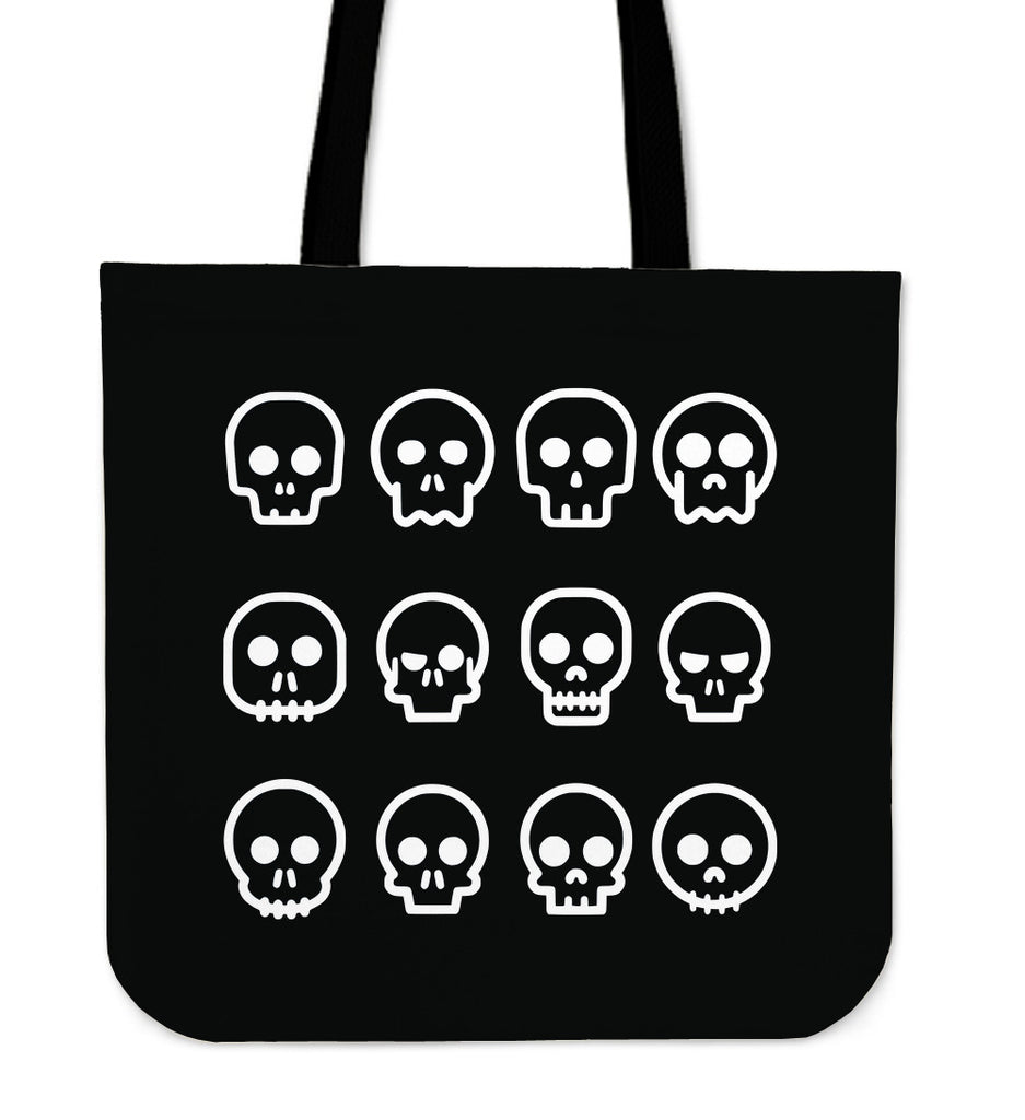 Skull Madness (Black) Tote Bag