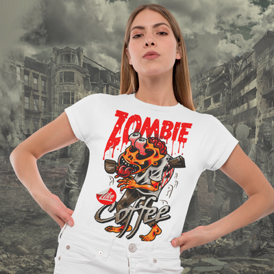 Zombie Like Coffee Short-Sleeve Tee