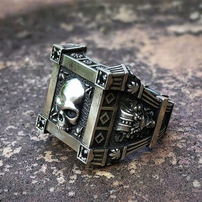 Signet Skull Ring For Men