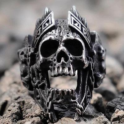 God Of War Skull Ring For Men