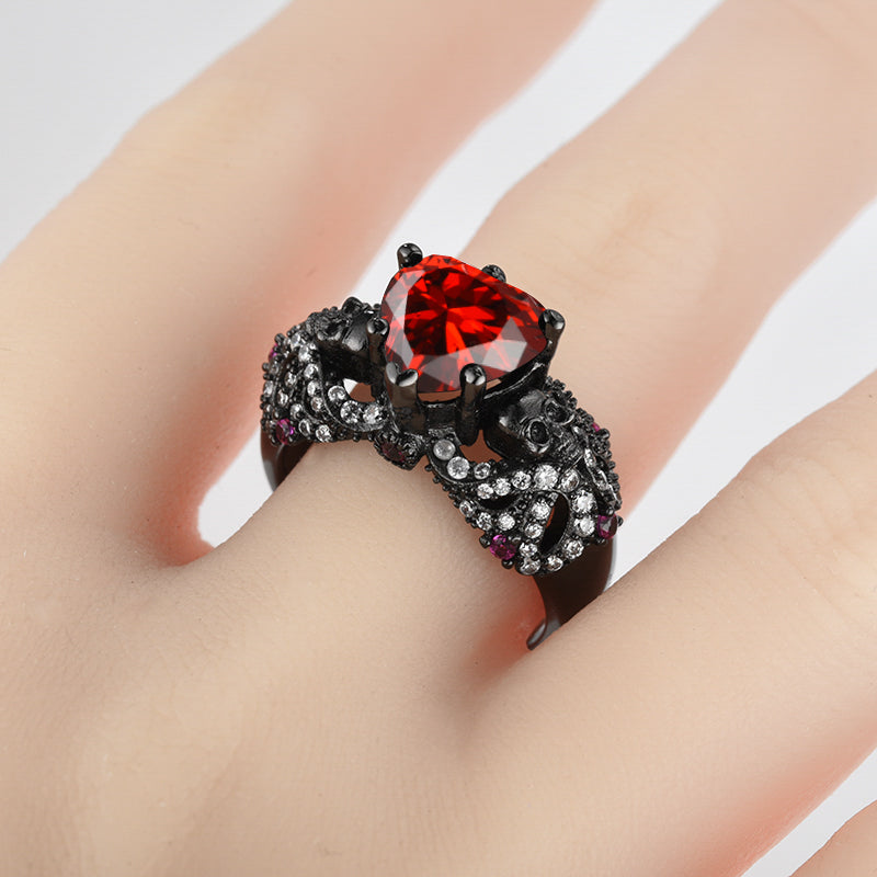 Heart And Star Ivy Skull Ring™ For Women