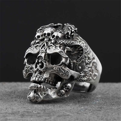 King Skull Ring For Men