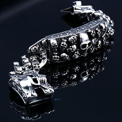 Chain Skull Bracelet For Men