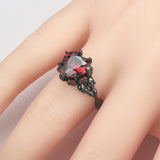 Big Heart Skull Ring For Women