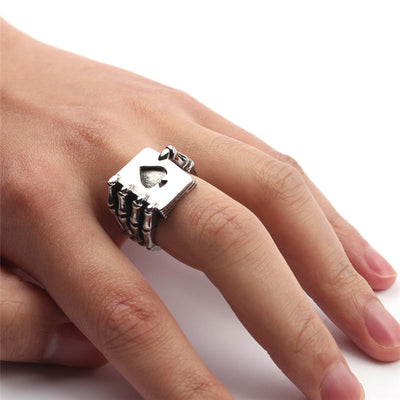 179b67e778 ... Poker Skull Claw Ring For Men