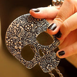 Gothic Sugar Skull Statement Necklace For Women