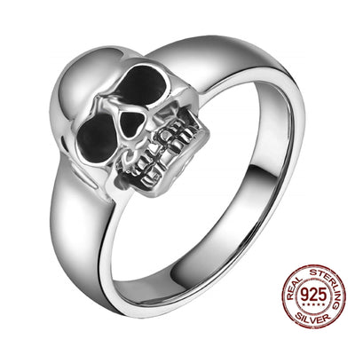 925 Sterling Silver Classic Skull Ring For Men Women